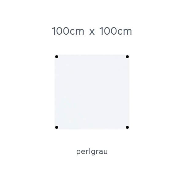 USM Haller Tisch 100x100cm Kunstharz perlgrau