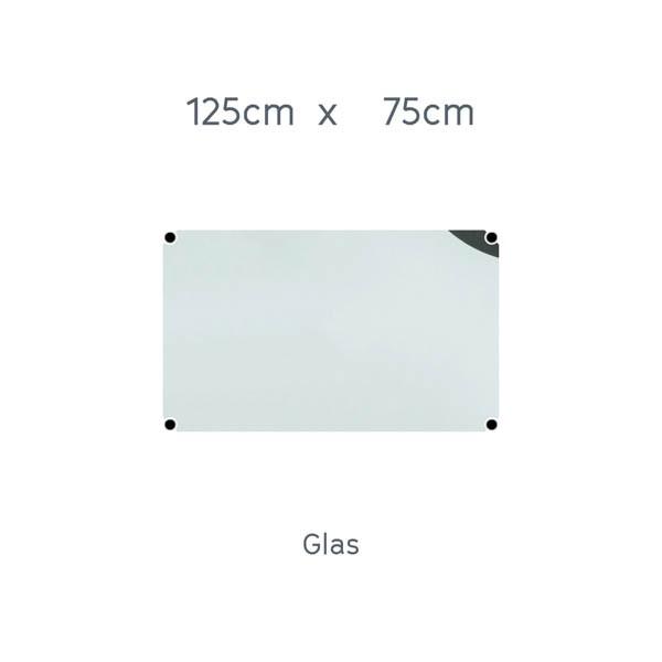 USM Haller Tisch 125x75cm Glas transparent