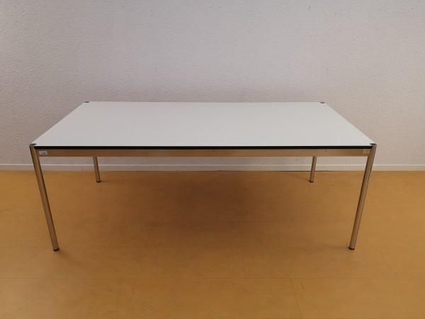 USM Haller Tisch 200x100cm Kunstharz Perlgrau, Nr.170878