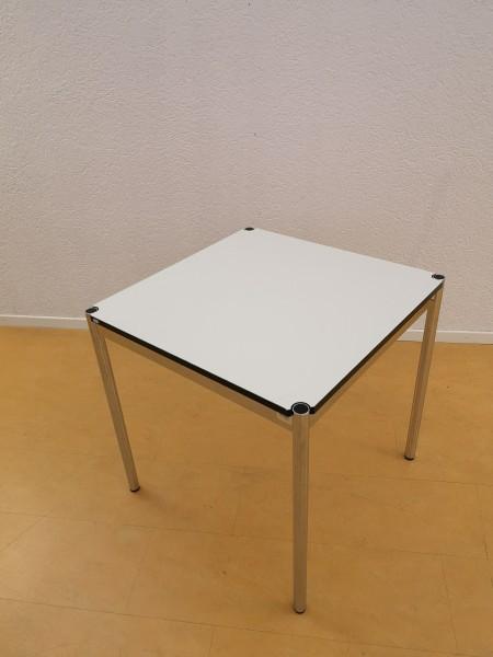 USM Haller Tisch 75x75cm Kunstharz Perlgrau, Nr.170882
