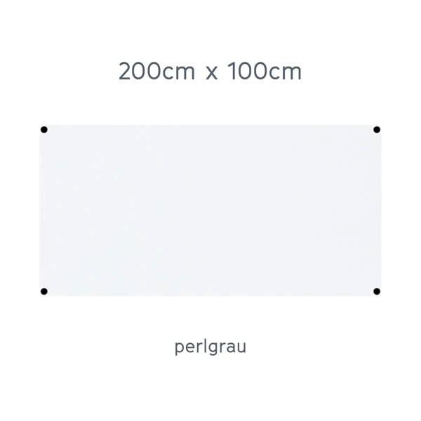 USM Haller Tisch 200x100cm Kunstharz perlgrau