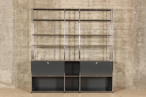 USM Haller Regal mit 3x6 Fächern, Nr.180050