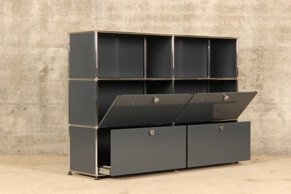 USM Haller Highboard mit 2x3 Fächern, Nr.180031