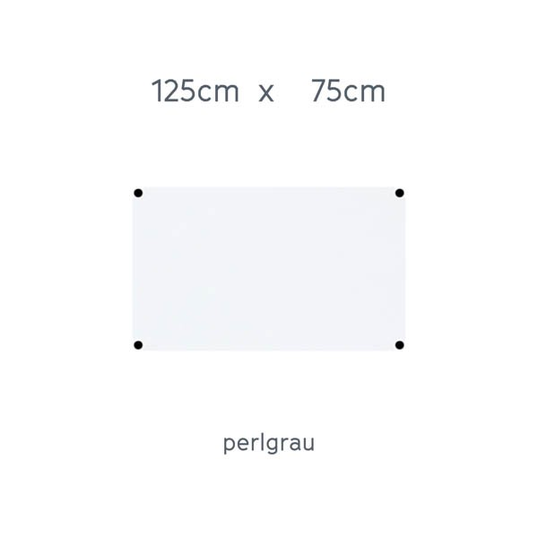 USM Haller Tisch 125x75cm Kunstharz perlgrau