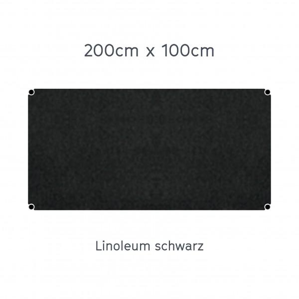 Usm Haller Tisch 200x100cm Linoleum Graphitschwarz